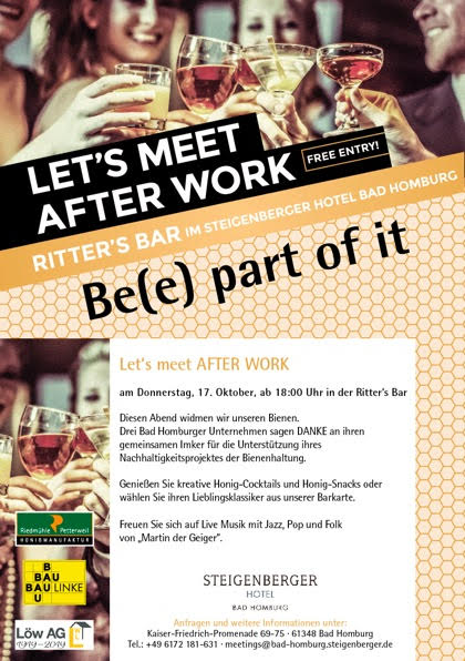 Be(e) part of it – Ein Abend den Bienen gewidmet in der Ritters Bar